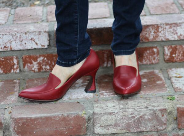 John Fluevog shoes, Fluevog Big Presence Davis, high heeled loafers