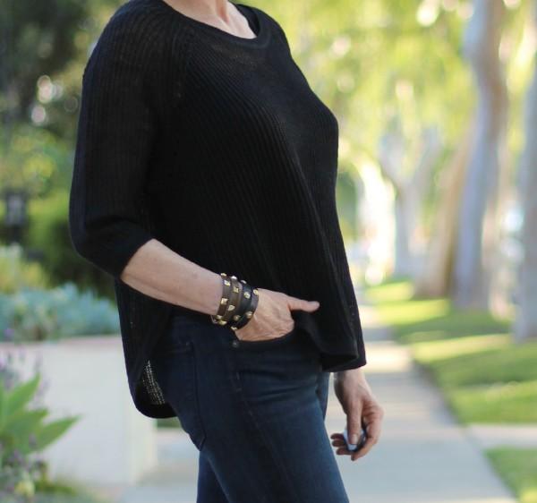 Eileen Fisher linen 3/4 sleeve sweater