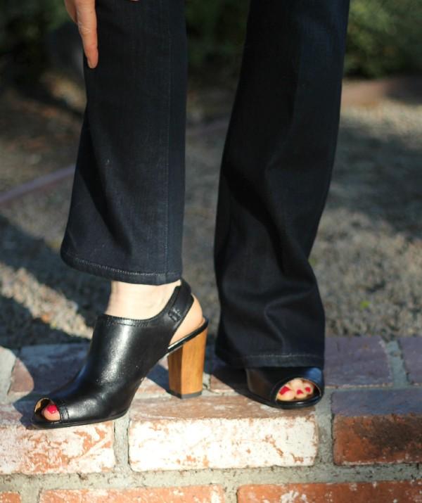 Clarks chunky heel