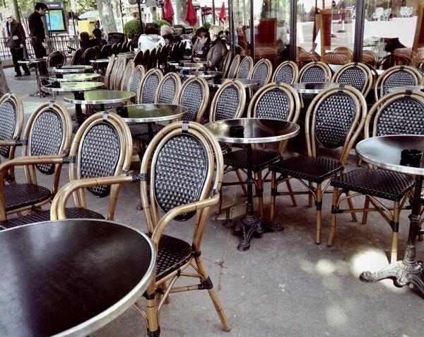 sidewalk cafe paris