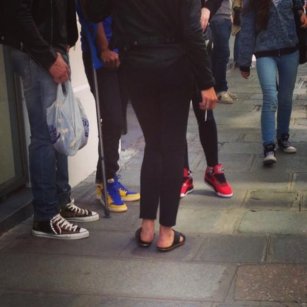 sneakers outside Colette Paris