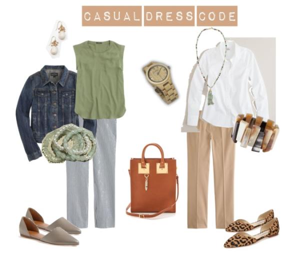 Summer business casual ensemble