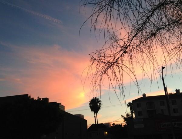 Saturday night, La Brea Avenue.