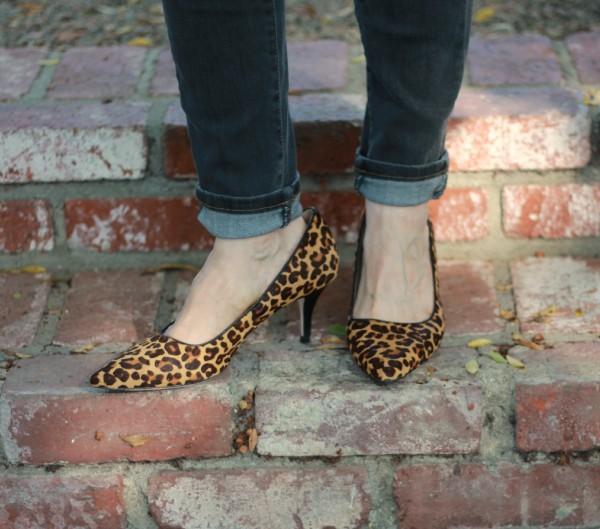 Cole Haan Bradshaw leopard pumps