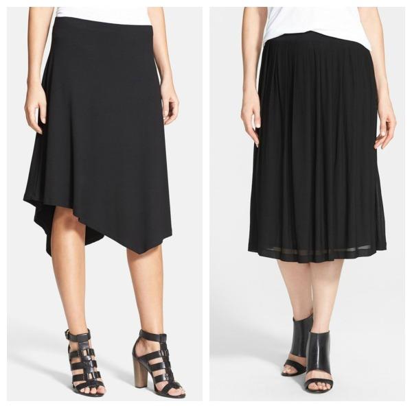 Asymmetrical skirt, Silk skirt