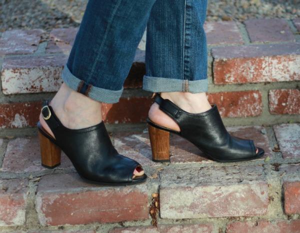 Clarks heeled sandals