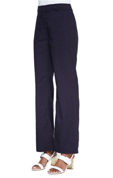 Eileen Fisher straight leg linen pants