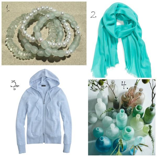 1. bracelets // 2. scarf // 3. cashmere // 4. decor