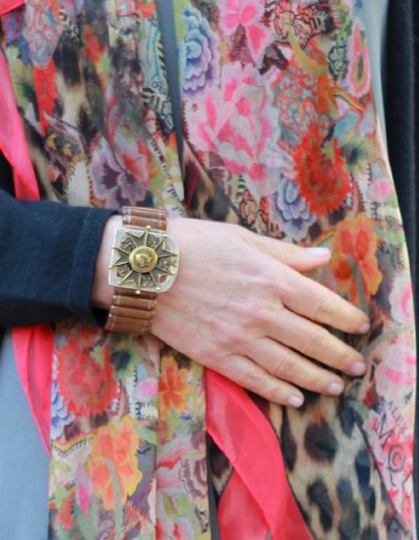 Alexander McQueen scarf, French Kande bracelet