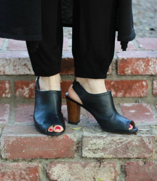 Clarks open toe shoes
