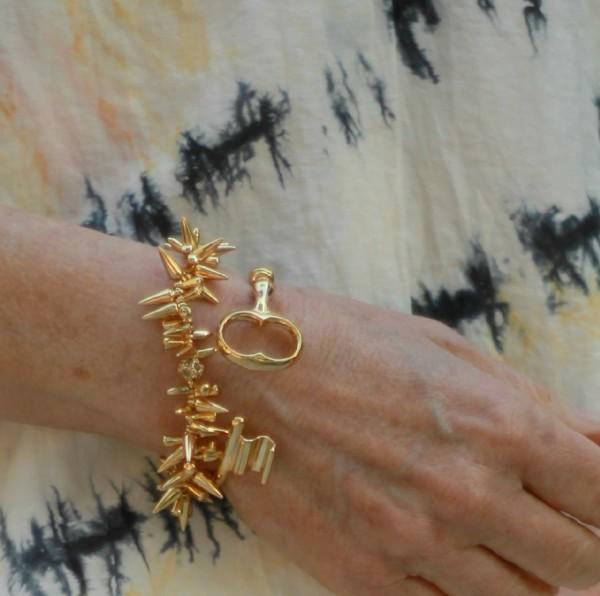 gold-tone bracelets
