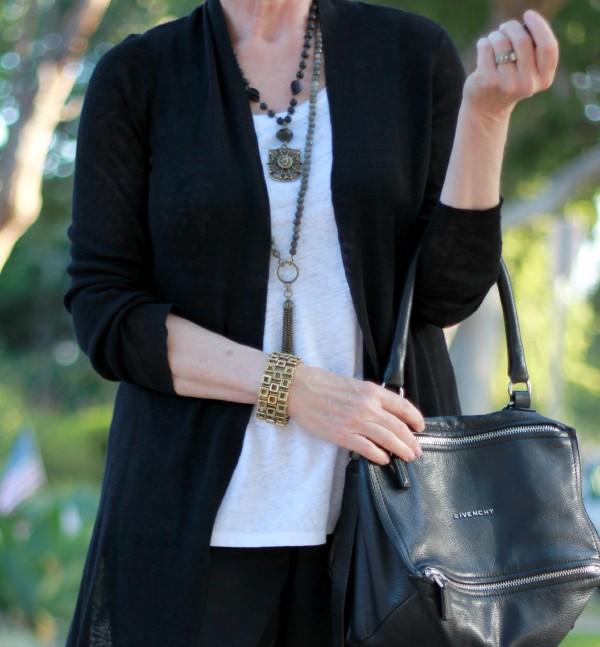 Givenchy pandora bag, French Kande necklaces