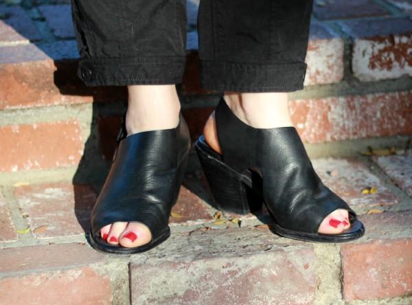 Eileen Fisher block heel sandals