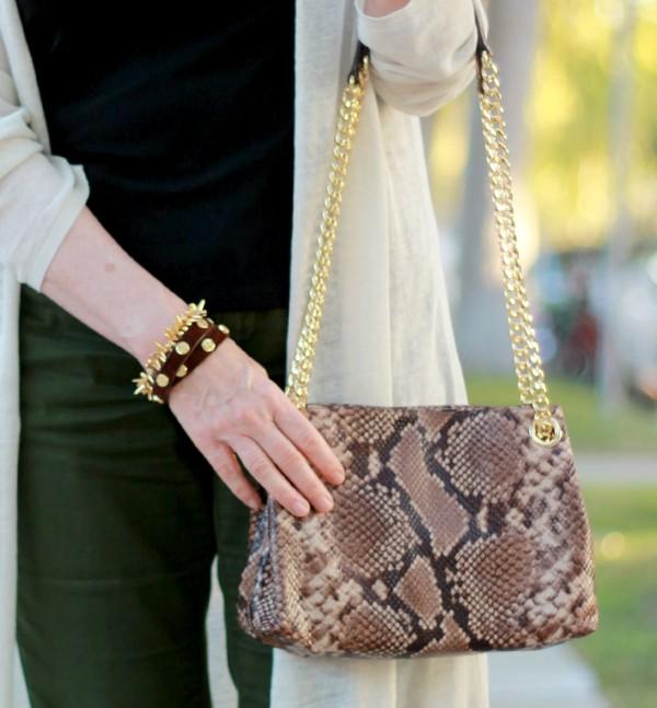 Michael Michael Kors embossed python bag