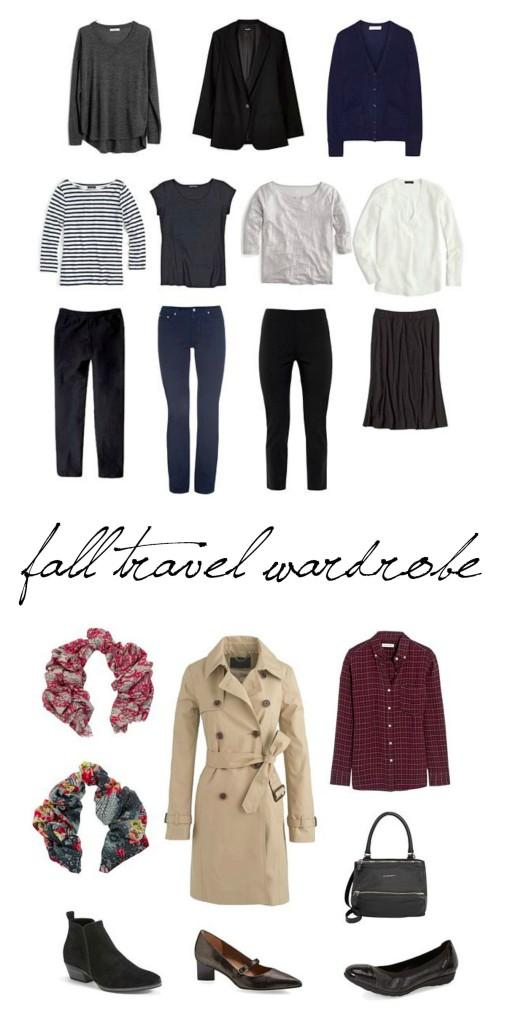 12-piece travel wardrobe europe