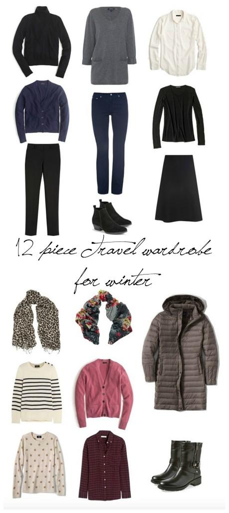 travel wardrobe for winter