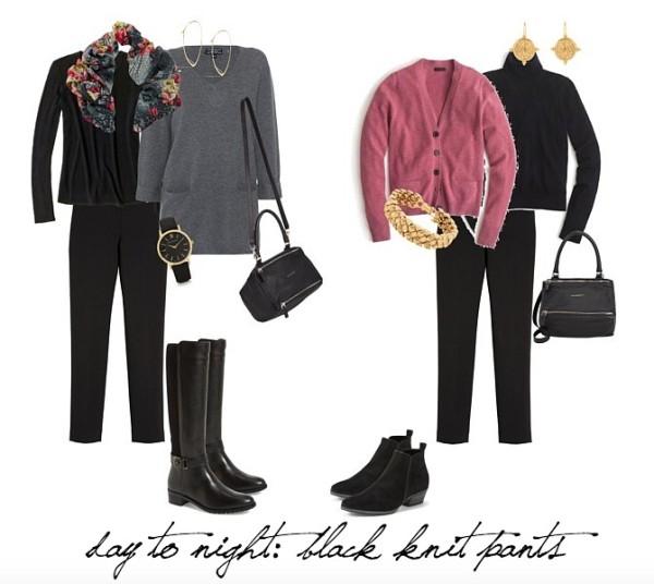 black pants for travel