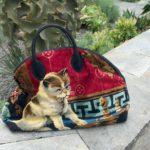 vintage cat bag, ready for closeup
