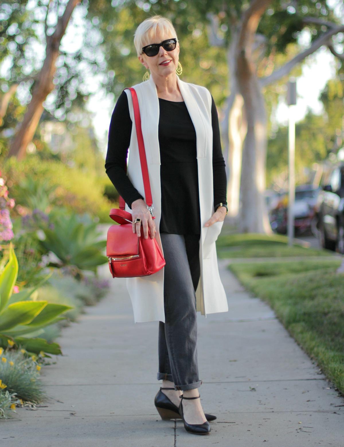 Givenchy Pandora bag, long knit vest