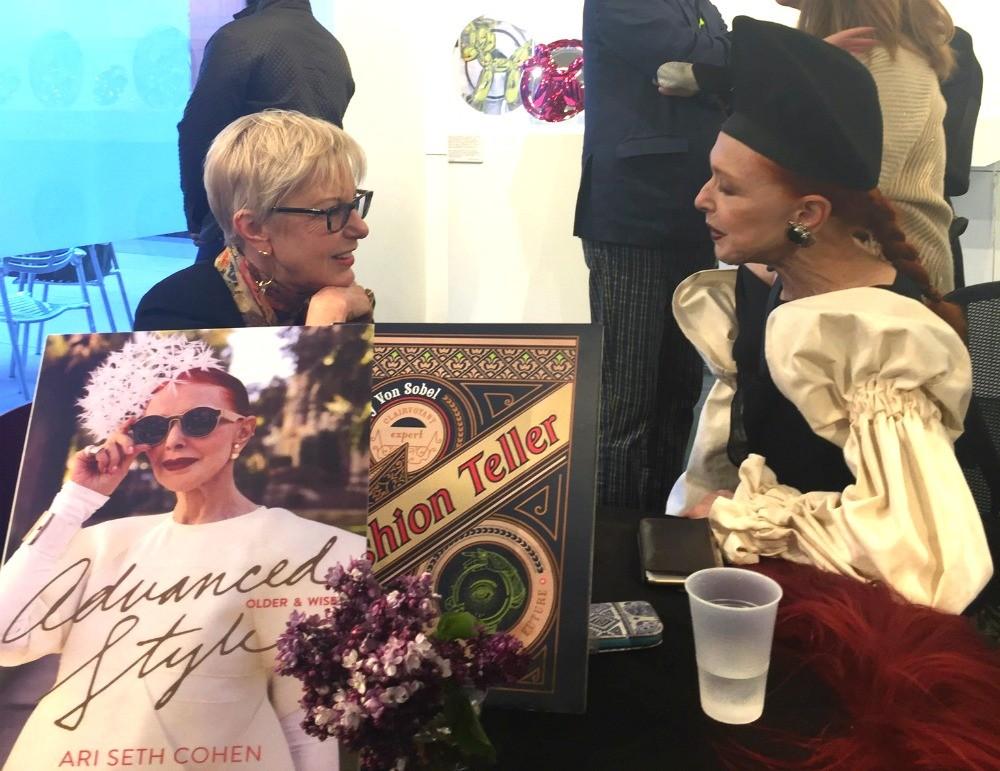 advanced style book signing Valerie Von Sobel