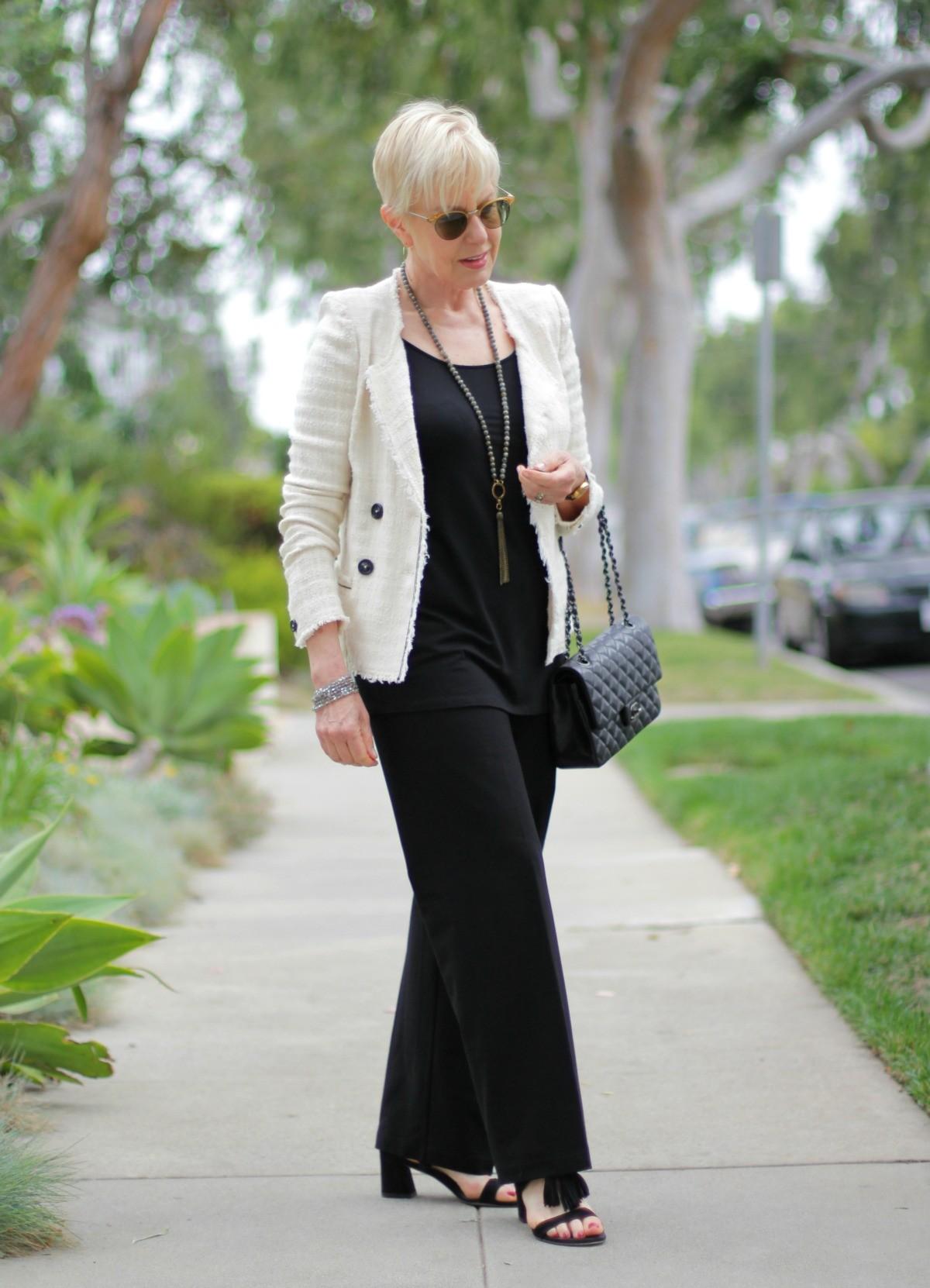 Isabel Marant Etoile jacket, Eileen Fisher wide leg pants