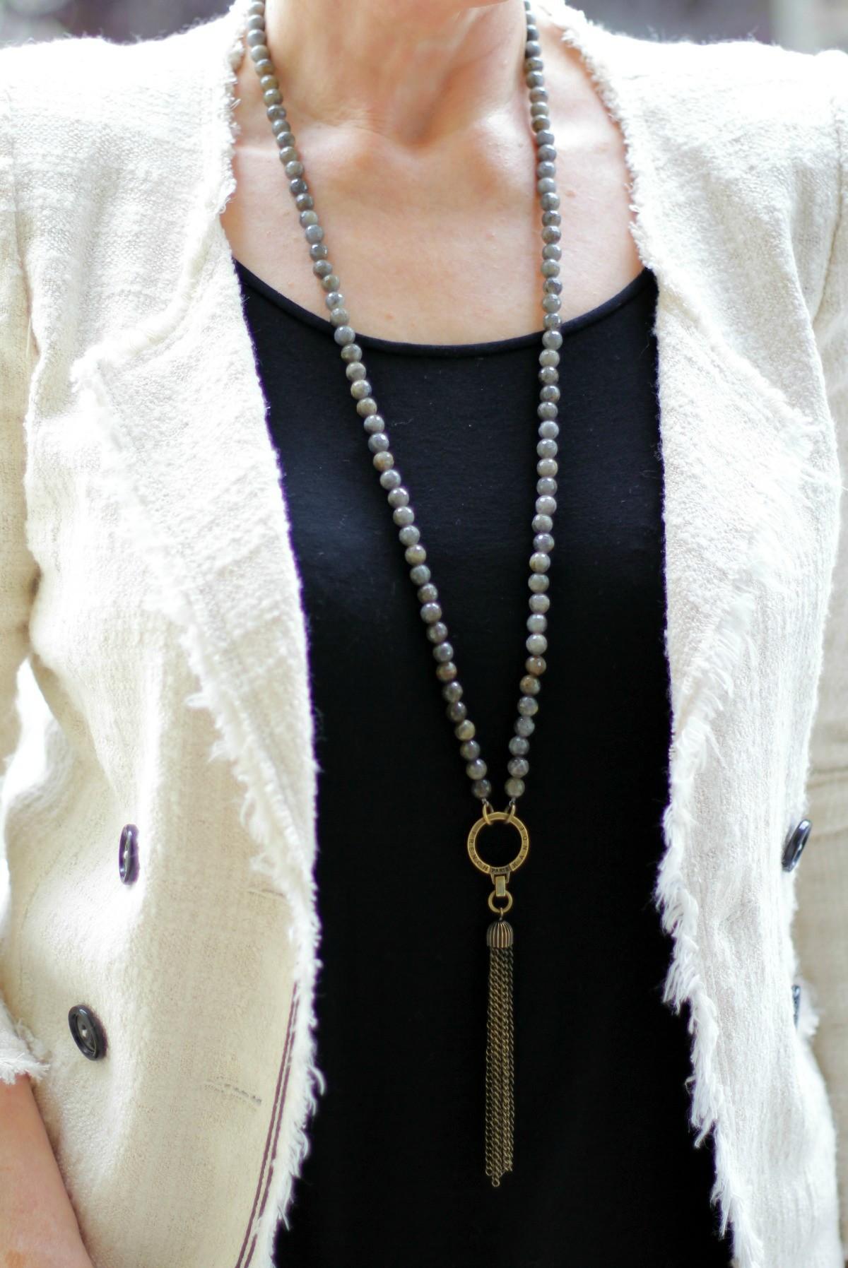 French Kande labradorite necklace