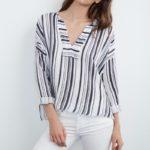lightweight cotton striped top