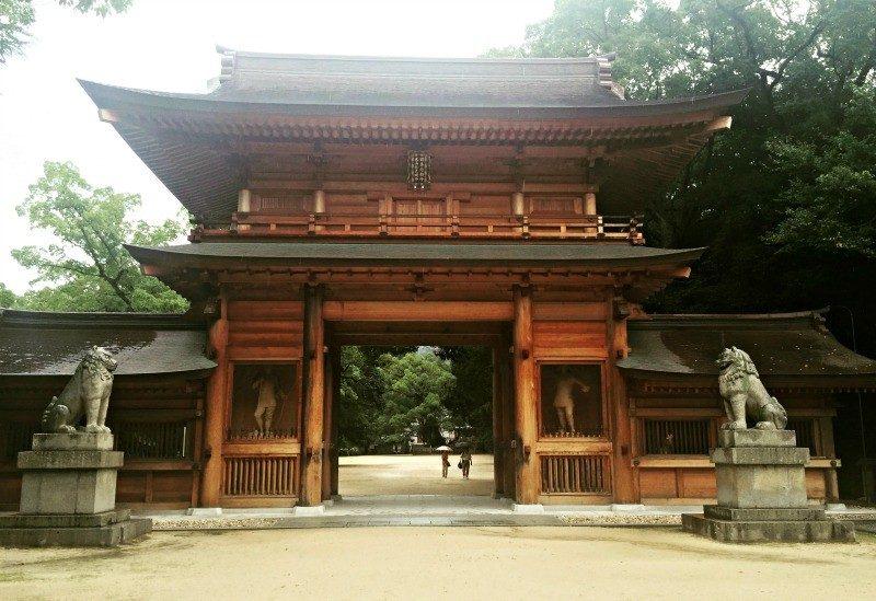 Oyamazumi shrine in Omishima