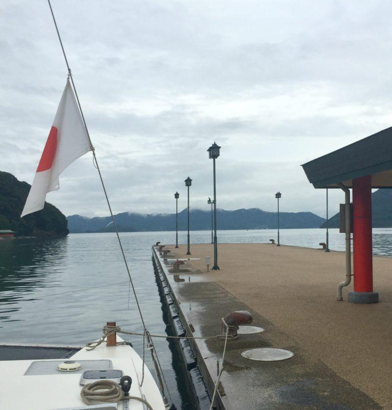 dock at Omishima Island, Japan