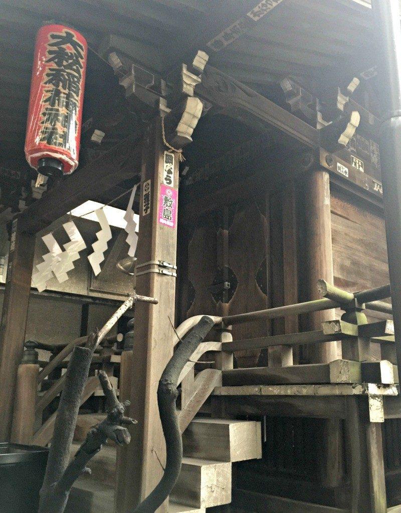 wooden shrine in Tokyo