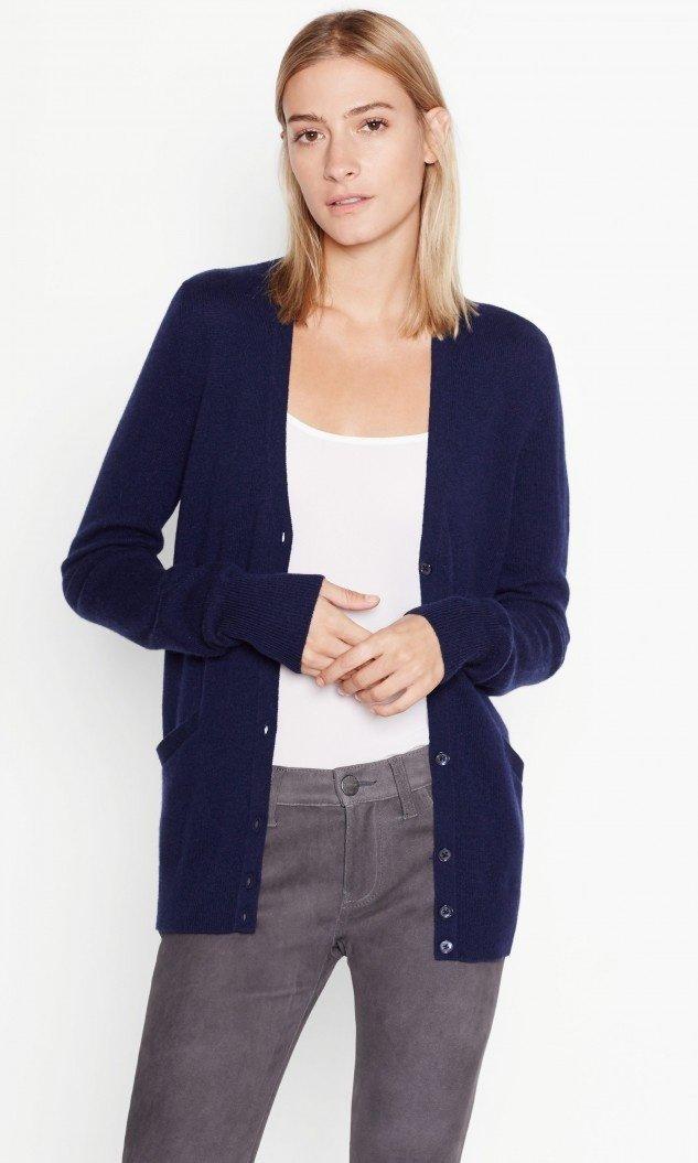 navy cashmere cardigan