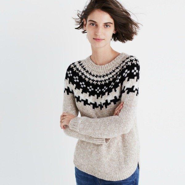 neutral Fair Isle sweater