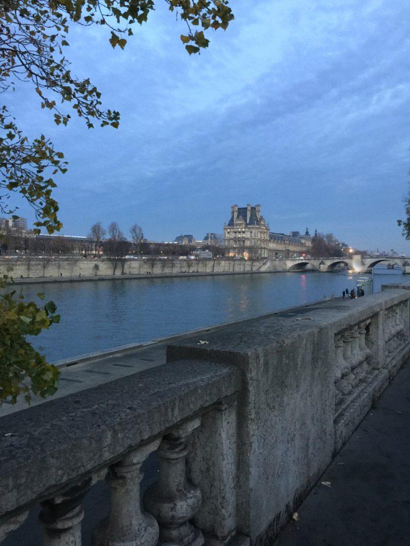 Paris: Seine at sunset, looking toward Louvre