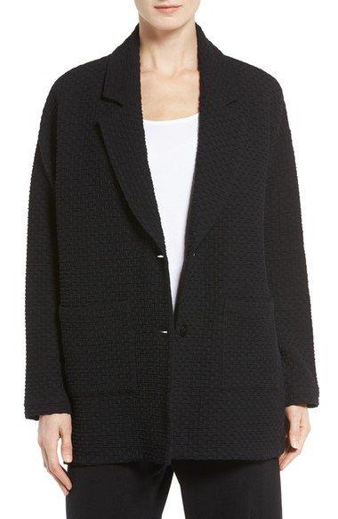 basketweave knit jacket