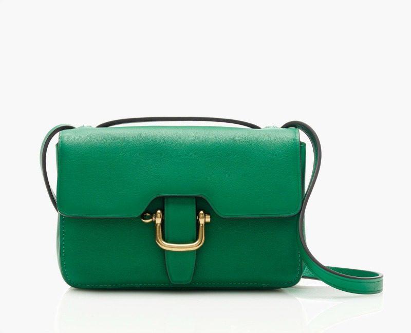 green shoulder bag
