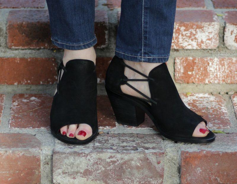 Eileen Fisher heeled peep-toe booties