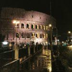 Rome Coliseum at night