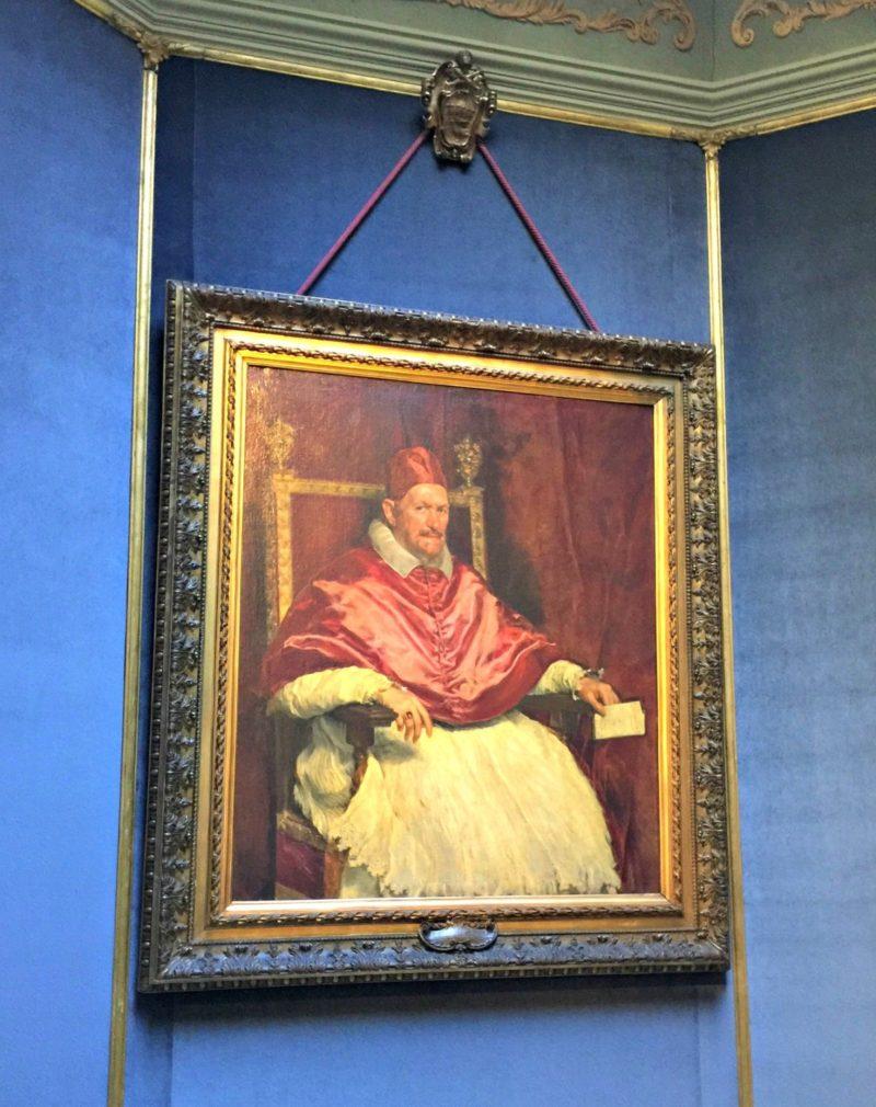 portrait of Pope Innocent X by Velasquez