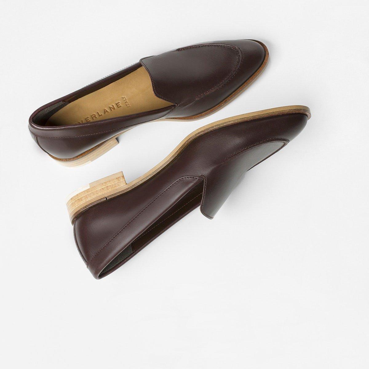 df011d3ebea Everlane Modern Loafer in burgundy. Details at une femme d un certain age.