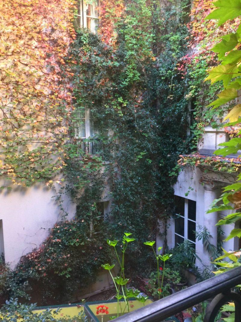 The quintissential Paris courtyard. Details at une femme d'un certain age.