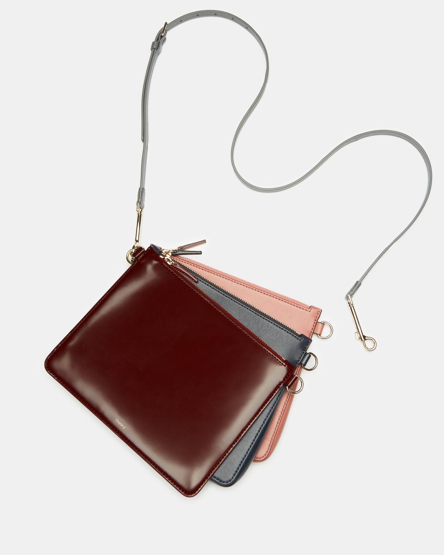 Theory triple pouch crossbody bag. Details at une femme d un certain age. 1237fc3d9b