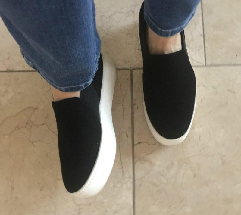 Vince Warren platform slip-on sneakers. Details at une femme d'un certain age.