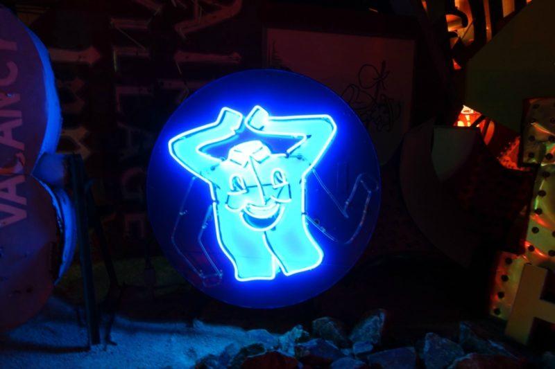 Las Vegas neon sign at Neon Boneyard. Details at une femme d'un certain age.