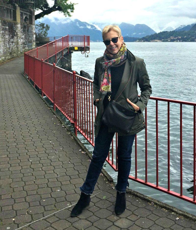 Exploring Lake Como in my favorite travel shoes. Details at une femme d'un certain age.