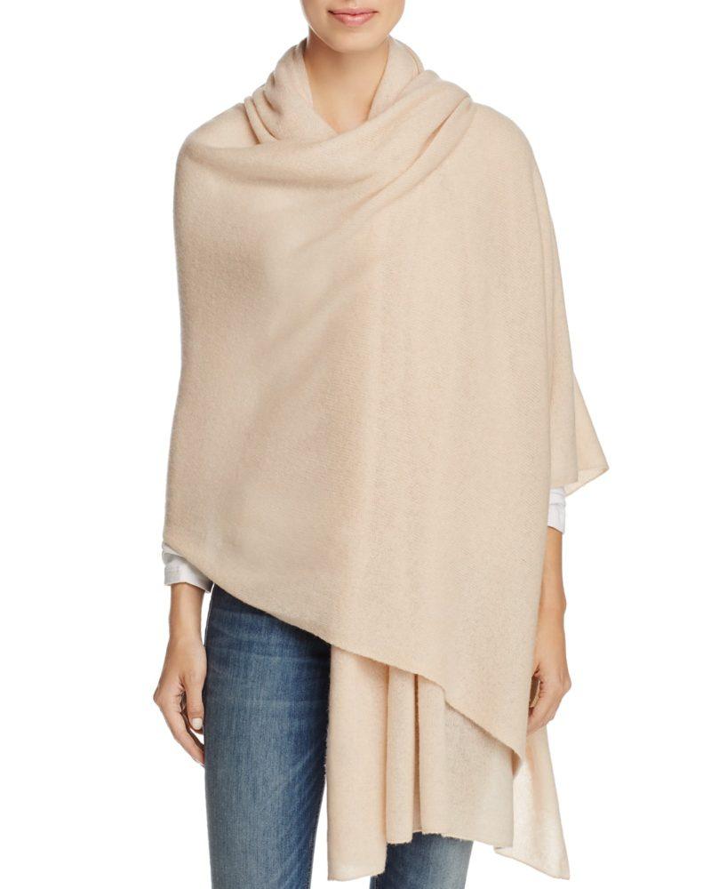 large cashmere wrap from Bloomingdale's. Details at une femme d'un certain age.