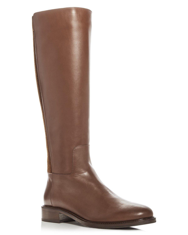 Aquatalia weatherproof knee boots in brown. Details at une femme d'un certain age.