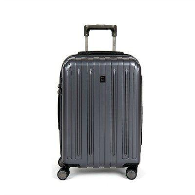 Delsey carry-on spinner bag on sale. Details at une femme d'un certain age.
