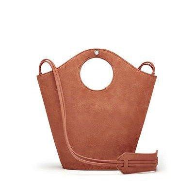 Suede shopper bag from Elizabeth and James. Details at une femme d'un certain age.