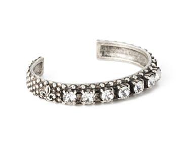 Swarovski cuff bracelet from French Kande. Details at une femme d'un certain age.
