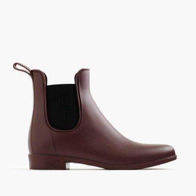 J.Crew Chelsea rain boots on sale. Details at une femme d'un certain age.